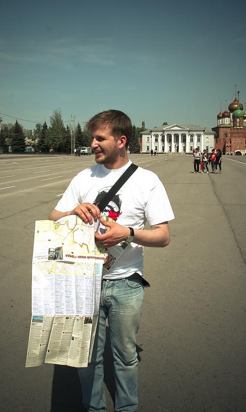 На площади перед кремлем